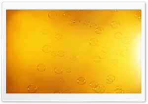 Orange Bubbles HD Wide Wallpaper for Widescreen