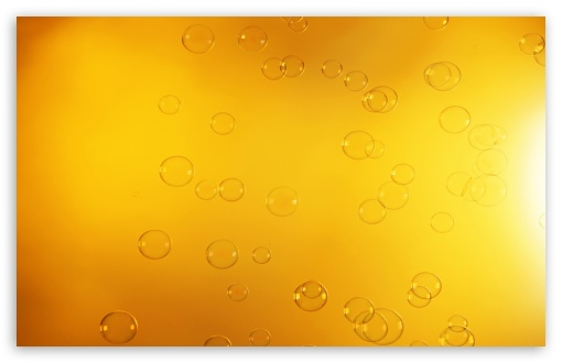 Download Orange Bubbles UltraHD Wallpaper