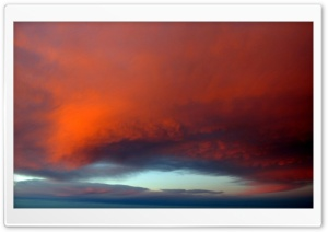 Orange Cloud Glow HD Wide Wallpaper for Widescreen