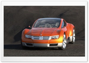 Orange Dodge Concept HD Wide Wallpaper for Widescreen