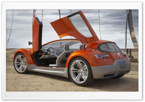 Orange Dodge Concept 1 HD Wide Wallpaper for Widescreen