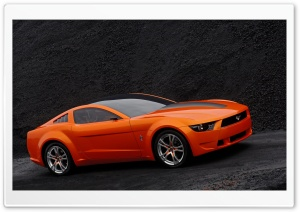 Orange Ford Mustang 2 HD Wide Wallpaper for Widescreen