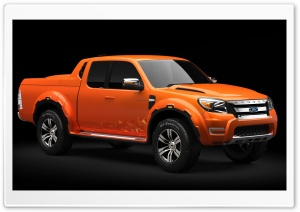 Orange Ford Ranger HD Wide Wallpaper for Widescreen