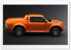 Orange Ford Ranger 1 HD Wide Wallpaper for Widescreen