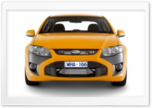 Orange FPV GT Car HD Wide Wallpaper for Widescreen