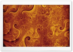Orange Fractal HD Wide Wallpaper for Widescreen