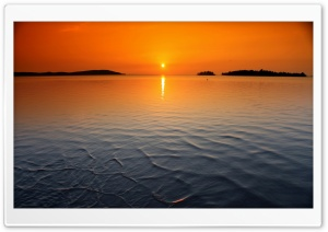 Orange Horizon Sunset HD Wide Wallpaper for Widescreen