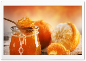 Orange Jam HD Wide Wallpaper for 4K UHD Widescreen desktop & smartphone