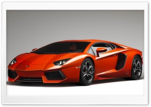Orange Lamborghini Aventador HD Wide Wallpaper for 4K UHD Widescreen desktop & smartphone