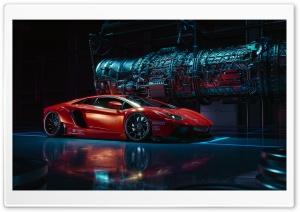 Orange Lamborghini Aventador Supercar Ultra HD Wallpaper for 4K UHD Widescreen desktop, tablet & smartphone