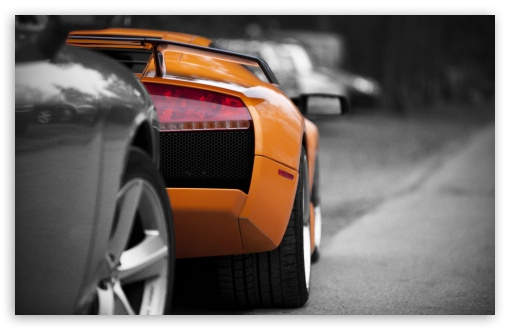 Orange Lamborghini Rear HD wallpaper for Wide 16:10 5:3 Widescreen WHXGA WQXGA WUXGA WXGA WGA ; Standard 4:3 5:4 Fullscreen UXGA XGA SVGA QSXGA SXGA ; MS 3:2 DVGA HVGA HQVGA devices ( Apple PowerBook G4 iPhone 4 3G 3GS iPod Touch ) ; Mobile VGA WVGA iPhone iPad Phone - VGA QVGA Smartphone ( PocketPC GPS iPod Zune BlackBerry HTC Samsung LG Nokia Eten Asus ) WVGA WQVGA Smartphone ( HTC Samsung Sony Ericsson LG Vertu MIO ) HVGA Smartphone ( Apple iPhone iPod BlackBerry HTC Samsung Nokia ) ;