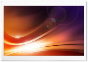 Orange Light HD Wide Wallpaper for Widescreen