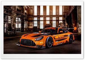 Orange Mercedes AMG GT3 Race Car 2019 HD Wide Wallpaper for 4K UHD Widescreen desktop & smartphone