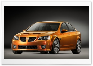 Orange Pontiac G8 GXP HD Wide Wallpaper for Widescreen