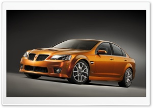 Orange Pontiac G8 GXP Car 1 HD Wide Wallpaper for 4K UHD Widescreen desktop & smartphone