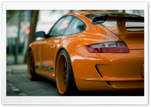 Orange Porsche HD Wide Wallpaper for Widescreen