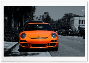 Orange Porsche 911 HD Wide Wallpaper for Widescreen