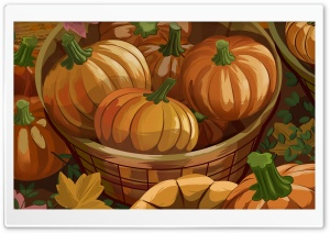 Orange Pumpkins Halloween Autumn HD Wide Wallpaper for Widescreen