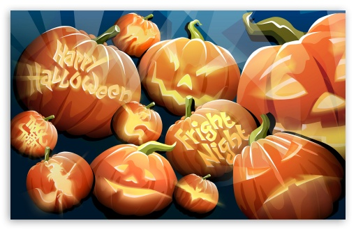 Orange Pumpkins Happy Halloween Night HD wallpaper for Wide 16:10 5:3 Widescreen WHXGA WQXGA WUXGA WXGA WGA ; HD 16:9 High Definition WQHD QWXGA 1080p 900p 720p QHD nHD ; Standard 3:2 Fullscreen DVGA HVGA HQVGA devices ( Apple PowerBook G4 iPhone 4 3G 3GS iPod Touch ) ; Mobile 5:3 3:2 16:9 - WGA DVGA HVGA HQVGA devices ( Apple PowerBook G4 iPhone 4 3G 3GS iPod Touch ) WQHD QWXGA 1080p 900p 720p QHD nHD ;