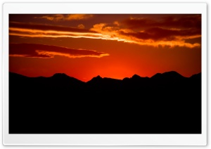 Orange Sky HD Wide Wallpaper for Widescreen