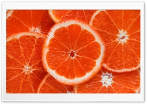 Orange Slices Background Ultra HD Wallpaper for 4K UHD Widescreen desktop, tablet & smartphone
