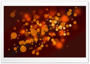 Orange Spots HD Wide Wallpaper for Widescreen