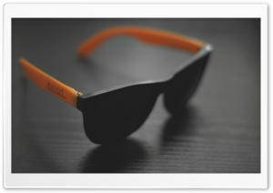 Orange Sunglases HD Wide Wallpaper for Widescreen