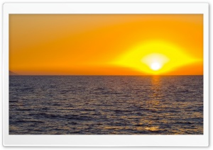 Orange Sunrise HD Wide Wallpaper for Widescreen