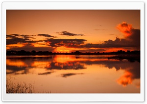 Orange Sunset Sky HD Wide Wallpaper for Widescreen