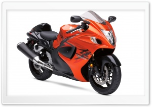 Orange Suzuki Hayabusa HD Wide Wallpaper for Widescreen