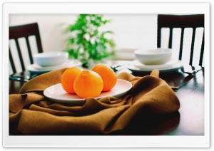 Oranges On A Plate HD Wide Wallpaper for Widescreen