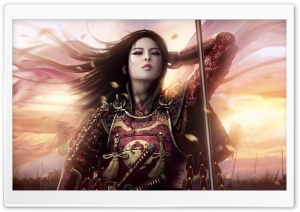 Oriental Warrior HD Wide Wallpaper for Widescreen