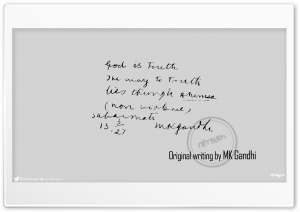 Original writing by MK Gandhi_nithinsuren HD Wide Wallpaper for Widescreen