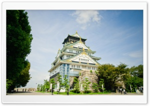 Osaka Castle HD Wide Wallpaper for Widescreen