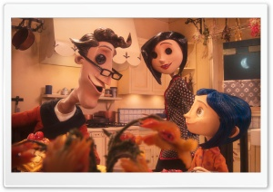 Other Father, Other Mother And Coraline HD Wide Wallpaper for Widescreen
