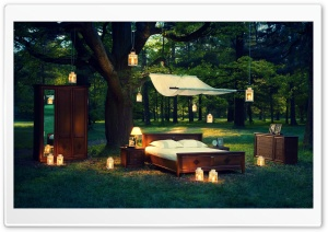 Outdoor Bedroom HD Wide Wallpaper for Widescreen