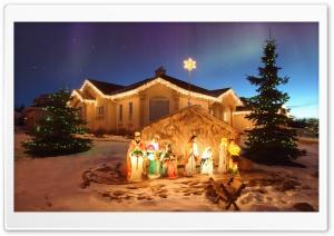 Outdoor Christmas Nativity Scene Ultra HD Wallpaper for 4K UHD Widescreen desktop, tablet & smartphone