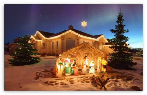 Outdoor Christmas Nativity Scene HD wallpaper for Wide 16:10 5:3 Widescreen WHXGA WQXGA WUXGA WXGA WGA ; HD 16:9 High Definition WQHD QWXGA 1080p 900p 720p QHD nHD ; Standard 4:3 5:4 3:2 Fullscreen UXGA XGA SVGA QSXGA SXGA DVGA HVGA HQVGA devices ( Apple PowerBook G4 iPhone 4 3G 3GS iPod Touch ) ; Tablet 1:1 ; iPad 1/2/Mini ; Mobile 4:3 5:3 3:2 16:9 5:4 - UXGA XGA SVGA WGA DVGA HVGA HQVGA devices ( Apple PowerBook G4 iPhone 4 3G 3GS iPod Touch ) WQHD QWXGA 1080p 900p 720p QHD nHD QSXGA SXGA ;