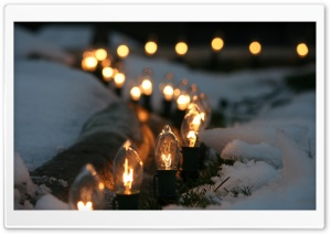 Outdoor Lighting, Winter HD Wide Wallpaper for Widescreen