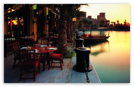 Outdoor Restaurant At Sunset HD wallpaper for Standard 4:3 5:4 Fullscreen UXGA XGA SVGA QSXGA SXGA ; Wide 16:10 5:3 Widescreen WHXGA WQXGA WUXGA WXGA WGA ; Other 3:2 DVGA HVGA HQVGA devices ( Apple PowerBook G4 iPhone 4 3G 3GS iPod Touch ) ; Mobile VGA WVGA iPhone iPad PSP Phone - VGA QVGA Smartphone ( PocketPC GPS iPod Zune BlackBerry HTC Samsung LG Nokia Eten Asus ) WVGA WQVGA Smartphone ( HTC Samsung Sony Ericsson LG Vertu MIO ) HVGA Smartphone ( Apple iPhone iPod BlackBerry HTC Samsung Nokia ) Sony PSP Zune HD Zen ;