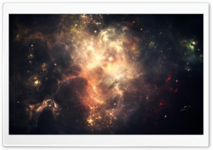 Outer Space Nebulae HD Wide Wallpaper for Widescreen