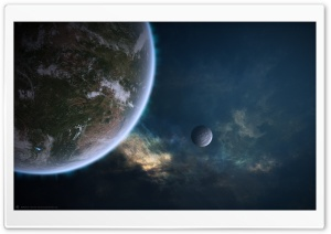 Outer Space Planets Artwork HD Wide Wallpaper for 4K UHD Widescreen desktop & smartphone