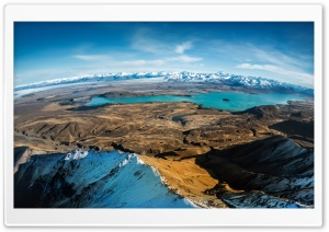 Over Lake Tekapo HD Wide Wallpaper for Widescreen