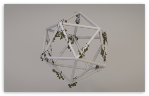 Download Overgrown Polyhedron HD Wallpaper