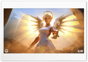Overwatch Angel HD Wide Wallpaper for 4K UHD Widescreen desktop & smartphone