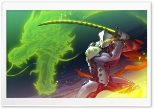 Overwatch Genji HD Wide Wallpaper for Widescreen