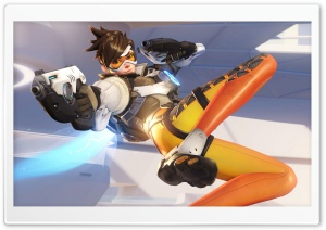 Overwatch Tracer HD Wide Wallpaper for 4K UHD Widescreen desktop & smartphone