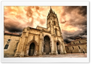 Oviedo Cathedral HD Wide Wallpaper for Widescreen
