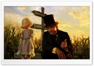 Oz The Great and Powerful - China Girl and Oscar HD Wide Wallpaper for Widescreen