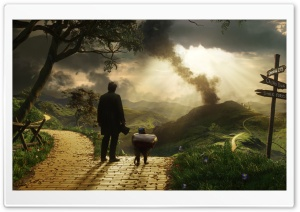 Oz The Great and Powerful - Finley and Oscar James Franco HD Wide Wallpaper for 4K UHD Widescreen desktop & smartphone